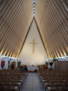 inside Christchurch's cardboard cathedral